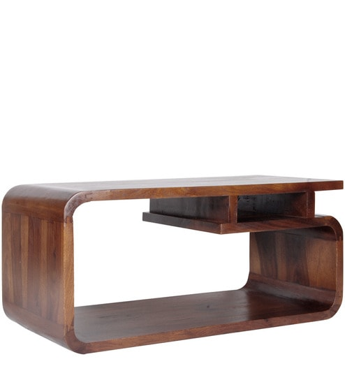 Cayenne See Through Solid Wood Coffee Table In Provincial Teak Finish By Woodsworth