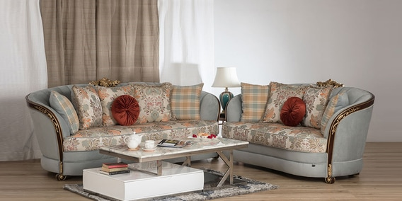 Buy Cadence 3 2 Sofa Set In Multicolour Colour By Durian