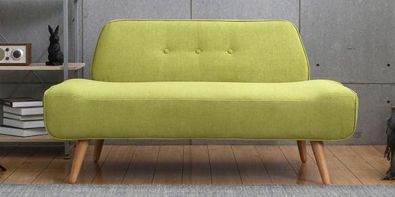 Camilia Two Seater Sofa In Green Colour By CasaCraft