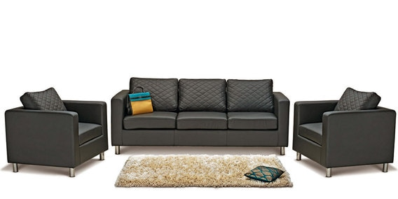 Buy Carbo Sofa Set 3 1 1 Seater In Black Colour By Godrej Interio