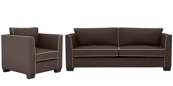 Pleasing Carolina Sofa Set 3 1 Seater In Grey Colour By Arra Machost Co Dining Chair Design Ideas Machostcouk