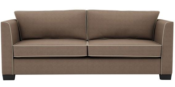 Carolina Three Seater Sofa In Coffee Colour By Arra