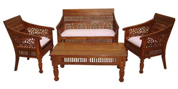Carved Sofa Set By Wood Dekor