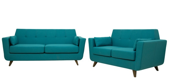 Castello 3 2 Sofa Set In Tampa Teal Colour By Casacraft