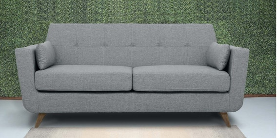 Castello Three Seater Sofa in Gravel Grey Colour by CasaCraft