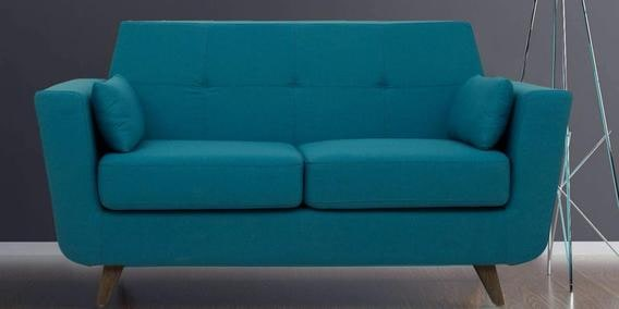 Castello Two Seater Sofa In Tampa Teal Colour On