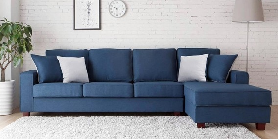 three seater sofa with lounger