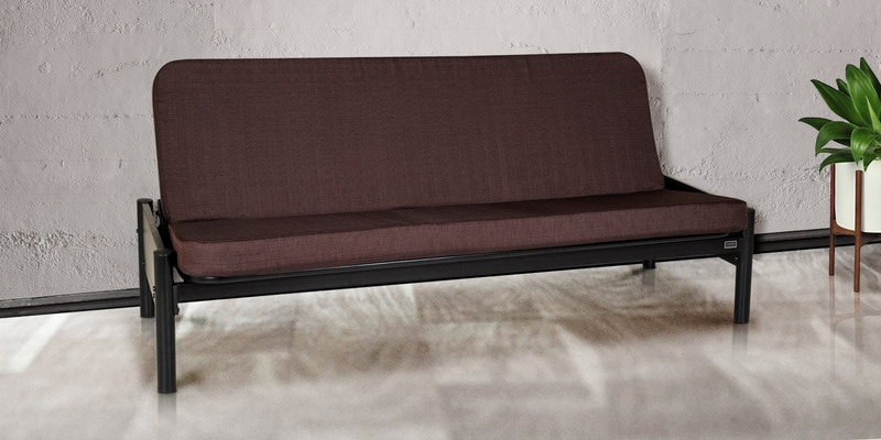 Cairo Metallic Sofa Cum Bed with Brown Mattress by FurnitureKraft