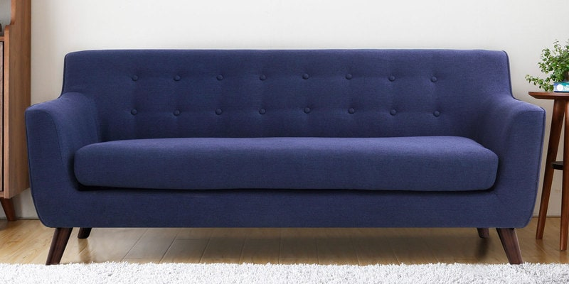 Carlito Three Seater Sofa in Blue Colour by CasaCraft
