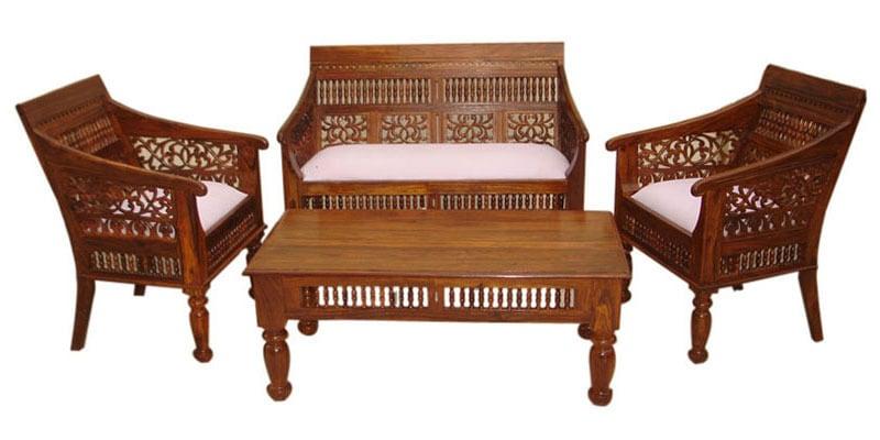 Carved Sofa Set By Wood Dekor By Wood Dekor Online Sofa