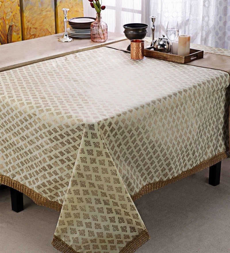 7aa2022158d Buy Cannigo Cream Fibre Table Cloth Online - Ethnic Table Cloths ...