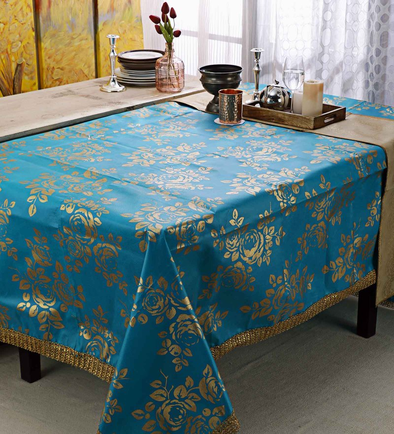 Cannigo Turquoise Fibre Table Cloth