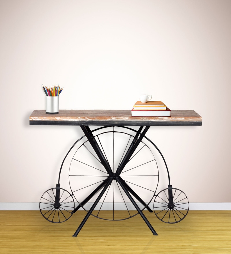 Cantung Console Table in Dual Tone Finish by Bohemiana