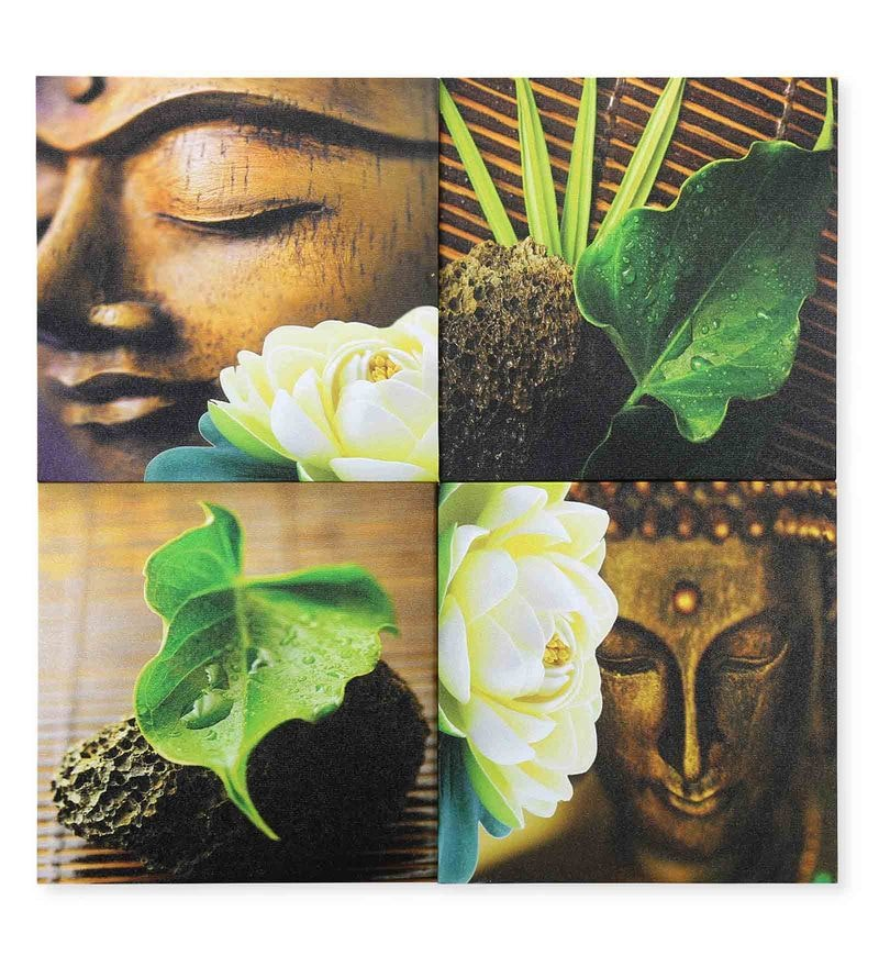 Canvas 23.62 x 1.1 x 23.62 Inch 3D Buddha Painting by @Home