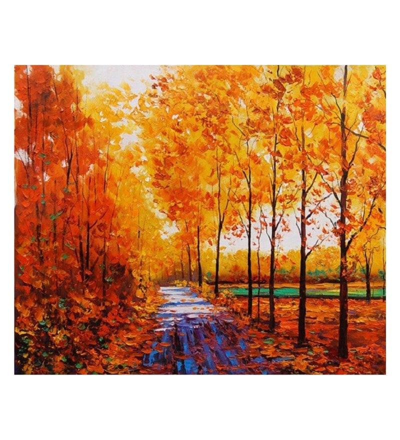 Canvas 24 x 0.2 x 20 Inch Express Unframed Handpainted Art Painting by Fizdi Art Store