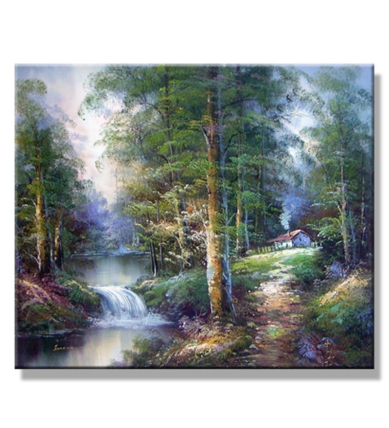 Canvas 36 x 0.2 x 36 Inch Beautiful Dream Unframed Handpainted Art Painting by Fizdi Art Store