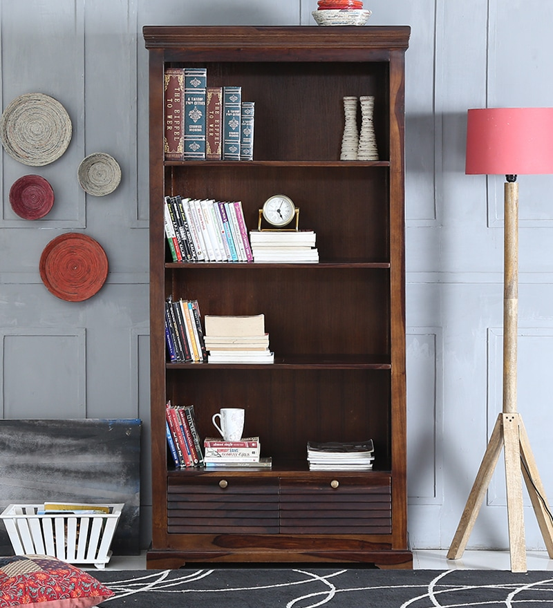 Carleson Book Shelf in Provincial Teak Finish by Amberville