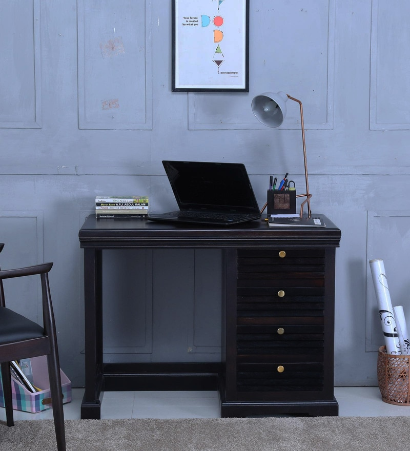Carleson Study & Laptop Table in Warm chestnut Finish by Amberville
