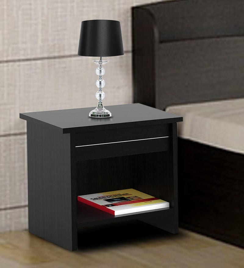 Carnival Bedside Table in Wenge Finish by Spacewood
