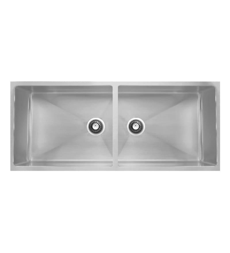 Carysil Quadro Stainless Steel Double Bowl Kitchen Sink (Model No: Qdb36188)