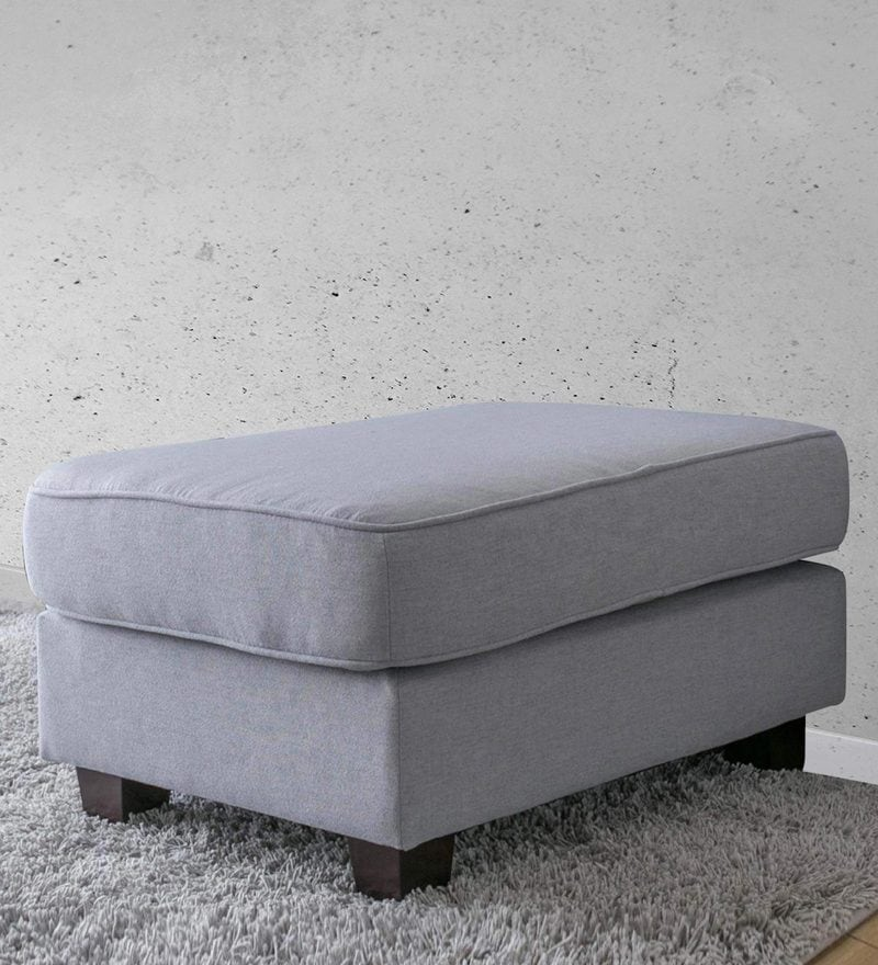 Castilla Ottoman in Chrome Grey Colour by CasaCraft