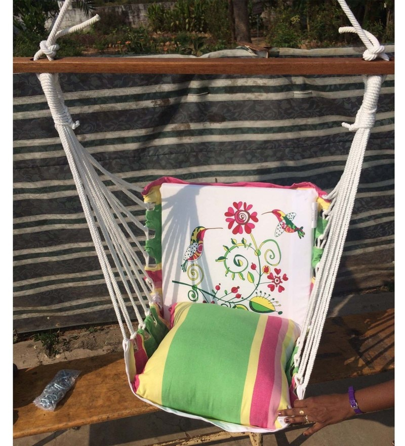 Casual Cotton Swing Chair with Pillow Set by Hang It