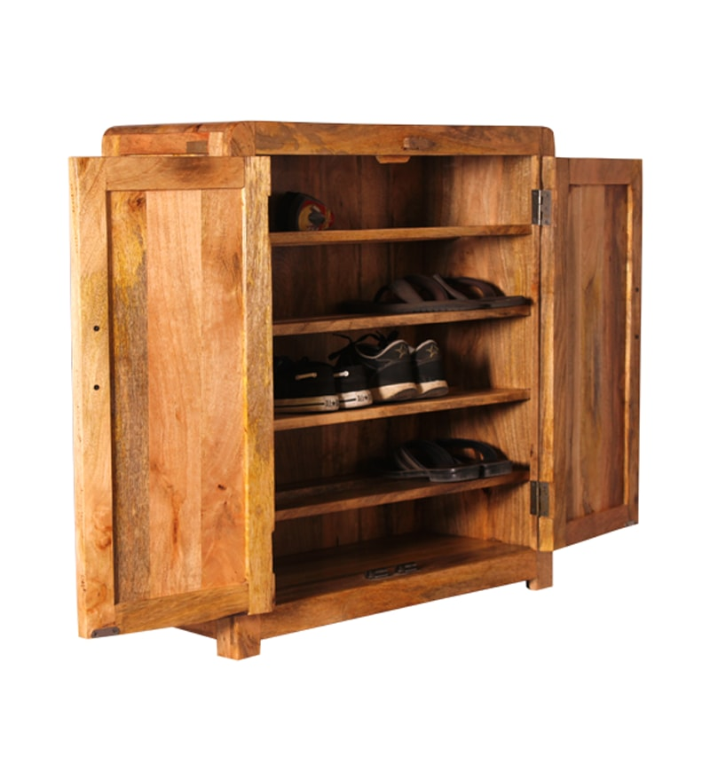 Cayenne Wooden Shoe Rack With Shelves By Mudramark Online