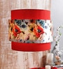 Calmistry Red Floral Hanging Shade