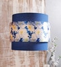 Calmistry Bunch Navy Blue Floral Satin Hanging Shade