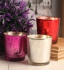 Gupta Glass Gallery Multicolour Metal Tea Light Holder - Set of 6