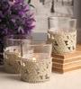White Glass Tea Light Holder - Set of 6 by Gupta Glass Gallery