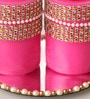 Candles N Beyond Pink Floral Pillar Candles