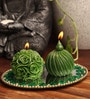 Green Candle Set by Candles N Beyond