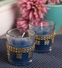 Candles N Beyond Blue Candle Set