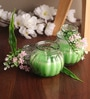 Lemon Grass Flower Small Jar Candle by Candles N Beyond