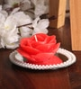 Mirror Tray with Rose Floating Candle by Candles N Beyond