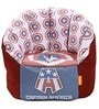 Captain America XXXL Kids Bean Bag with Beans in Multicolour by Orka