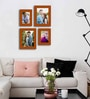 Caracas Collage Photo Frame in Brown by CasaCraft