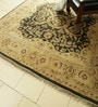 Beige & Red Wool 96 x 96 Inch Persian Design Hand Knotted Area Rug by Carpet Overseas