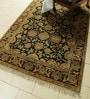 Carpet Overseas Black & Red Wool 100 x 61 Inch Bakhtiyari Design Hand Knotted Area Rug