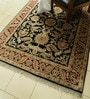 Black & Red Wool 85 x 61 Inch Persian Design Hand Knotted Area Rug by Carpet Overseas
