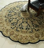 Blue Wool 93 x 93 Inch Persian Design Hand Knotted Area Rug by Carpet Overseas