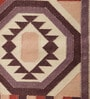 Brown & Rust Cotton 48 x 30 Inch Flatweave Dhurrie by Carpet Overseas