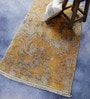 Gold & Grey Viscose 62 x 38 Inch Modern Design Hand Knotted Area Rug by Carpet Overseas