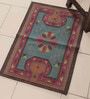 Green & Red Cotton 30 x 20 Inch Area Rug by Carpet Overseas