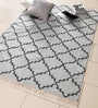 Grey Cotton 49 x 73 Inch Area Rug by Carpet Overseas
