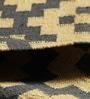 Ivory & Grey Jute 61 x 37 Inch Kilim Design Flatweave Area Rug by Carpet Overseas