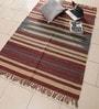 Maroon & Blue Jute 72 x 47 Inch Area Rug by Carpet Overseas