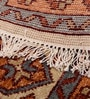 Carpet Overseas Multicolour Wool 47 x 73 Inch Tribal Design Hand Knotted Area Rug