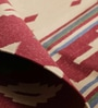 Carpet Overseas Red & Green Cotton 72 x 48 Inch Geometrical Design Flatweave Area Rug
